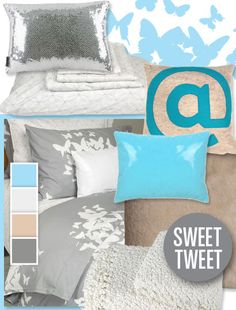 Twitter themed bedding. Perfect? ;) hahaha