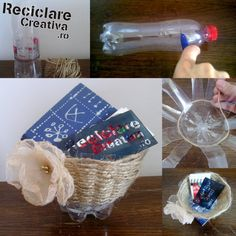 Plastic bottle bowl