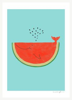 My cat can eat a whole watermelon - Art Print. $30,00, via Etsy.