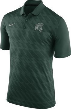 1b01e92af0a1 Nike Men s Michigan State Spartans Green Dry Stadium Polo