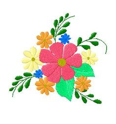 4X4  Floral Embroidery Design 129