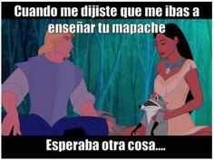 Esperaba otra cosa al ver tu mapache #memes #princesas #disney