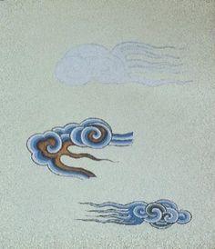 Cahide Keskiner - Minyatür Sanatında Doğa Çizim ve Boyama Teknikleri Bulut boyaması Cloud Drawing, Thangka Painting, Persian Motifs, Arabic Pattern, Tibetan Art, Turkish Art, Art Graphique, Sacred Art, Islamic Art