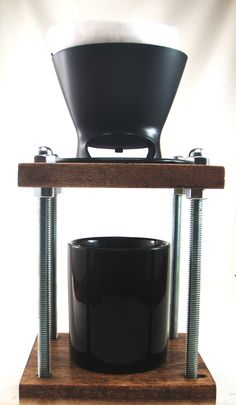 Badass Brew station Pour over coffee maker dripper stand by Whiterabbitwood on…