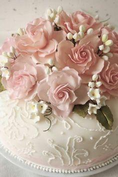 wedding cake, flowers
