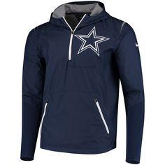 Nike Dallas Cowboys Navy Sideline Fly Rush Half-Zip Pullover Jacket 067e7b545d6