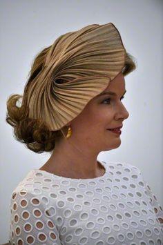 Queen Mathilde, June 2, 2015 in Fabienne Delvigne | Royal Hats