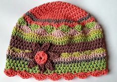 Vestidos de Niñas y Ropa para Niños: Gorros tejidos a crochet para niñas