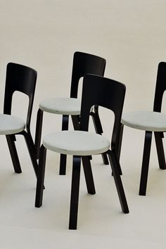 4x Dining Chair 66, Alvar Aalto, Artek, Finland, 1940-1950s Photography: Ruby Woodhouse abelsloane1934.com