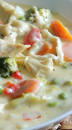 Cheesy Chicken and Vegetable Soup