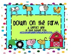 This pack include 20 hands on, engaging literacy activities for you kids.  Your kids will have a blast learning from this farm-themed unit!  In...