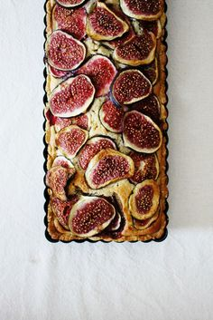 Hippopotamousse . Fig and Ginger Frangipane Tart . { lovely recipe for a really sweet tart . the additiona of ginger sounds a lovely spicy twist to a traditional frangipane . the Great British Bake Off 2015 . Episode6 . signaturebake } .