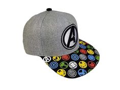 7efe4bc9b0d26 Mens Avengers Embroidered Flat Him Hat With Sublimated Bill  fashion   clothing  shoes