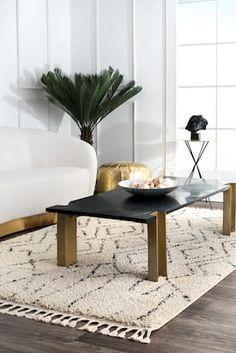 Rugs USA Off White Temara Moroccan Chevron Tassel rug - Contemporary Square Moroccan Decor Living Room, Moroccan Rugs, Amanda, Chevron, Native Design, Up House, Farmhouse Interior, Rugs Usa, Buy Rugs