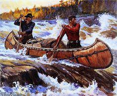 Phillip R Goodwin Into New Country Walnut Framed Giclee Canvas Art s 18x16   eBay