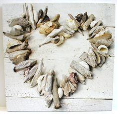 Driftwood Heart Canvas Art   OceanStyles.com