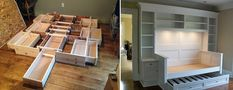 수납침대, 벙커침대 DIY 자료 : 네이버 포스트 Kitchen, Home, Pallets, Cooking, Pallet, Kitchens, Cuisine, Haus, Homes