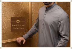 6d01447c2f Latest Men Shalwar Kameez in Grey Color Work Embellished Gala Embroidery  with Threads Online at Nameera