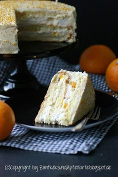 Zur Feier des Tages: Orangen-Mascarpone-Torte Mascarpone Cake, German Baking, German Desserts, Cake Fillings, Bakery Cakes, Specialty Cakes, Sweets Recipes, Cake Cookies, No Bake Cake