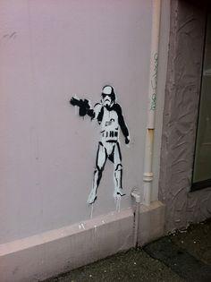 Star wars stormtrooper stencil art - Petone, Wellington