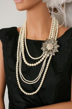 vintage necklace (con la spilla di Maristella)