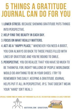5 Things a Gratitude Journal Can Do for You agutsygirl.com #guthealth #gratitude #journaling 5 Things, Things To Think About, Showing Gratitude, Girls Bible, Put Things Into Perspective, Attitude Is Everything, Try To Remember, Adrenal Fatigue, Gut Health