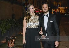 Prince Carl Philip and Princess Sofia of Sweden attend a charity gala for Sofia's Project Playground charity. Oct. 20, 2017