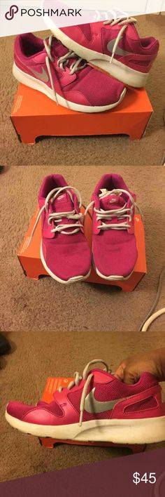 Pink Nike Kaishi women size 9 pink with box no top will wipe up once sold decent condition still have lots of life to them Nike Shoes Athletic Shoes