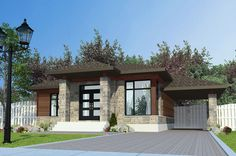 House Plan 50315 Contemporary Plan with 1025 Sq., 3 Bedrooms, 1 Bathrooms, 1 Car Garage at family home plans Contemporary Style Homes, Contemporary House Plans, Contemporary Decor, Family House Plans, Small House Plans, Architectural Design House Plans, Architecture Design, Bungalow, Modern Tiny House