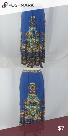Forever 21 Bohemian Print Maxi Skirt Forever 21 Bohemian Print Maxi Skirt. Size small. In excellent condition no stains rips or holes. Vibrant colors Forever 21 Skirts Maxi