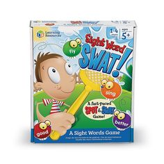 Learning Resources Sight Word Swat! A Sight Words Game - The Learning Resources Sight Word Swat! A Sight Words Game challenges kids to see, swat and learn the 220 most commonly used sight words. Teaching the top Dolch sight words, this fun game provides an excellent base for reading at an early age. Auditory Learning, Learning Games For Kids, Learning Resources, Learning Phonics, Dolch Sight Words, Sight Word Games, Word Building, Vocabulary Building, Building Toys