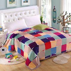 Prezzi e Sconti: #Cute colorful grid pattern household flannel Instock  ad Euro 29.41 in #Colormix #Home textile bedding