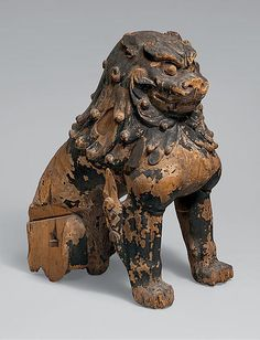 "狛犬像  Guardian Lion-Dogs, mid-13th century. Japan.The Metropolitan Museum of Art, New York. Mary Griggs Burke Collection, Gift of the Mary and Jackson Burke Foundation, 2015 (2015.300.257a, b)  | This work is featured in ""Celebrating the Arts of Japan: The Mary Griggs Burke Collection.""  #ArtsofJapan  #AsianArt100"