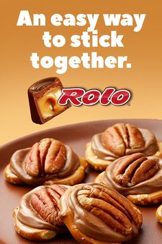 ROLO Pretzel Delights: Easy Treat To Make At Home - - Make homemade candy in under five minutes with ROLO Creamy Caramels in Chocolate Candy, pretzels and pecans. These ROLO Pretzel Delights are so quick and easy, even kids can join the fun. Rolo Pretzel Treats, Rolo Pretzels, Pretzels Recipe, Easy Cookie Recipes, Candy Recipes, Easy Desserts, Delicious Desserts, Easy Treats To Make, Easy Meals For Kids