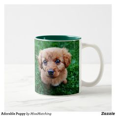 Adorable Puppy Two-Tone Coffee Mug - photographer gifts business diy cyo personalize unique Cute Puppies, Dogs And Puppies, Cute Dogs, Dog Coffee, Coffee Mugs, Photographer Gifts, Custom Mugs, Tea Cups, Pets
