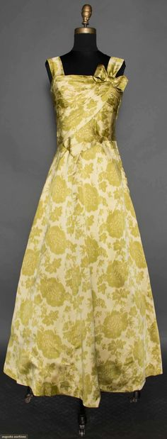 Main Bocher Chine Print Gown, C. 1960, Augusta Auctions, April 8, 2015 NYC