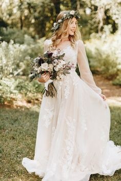 Shop Azazie Wedding Dress - Azazie Sedona BG in Tulle and Lace. Find the perfect wedding dress for your big day. Available in full size range and in custom sizing at Azazie. Classy Wedding Dress, Fairy Wedding Dress, Outdoor Wedding Dress, Garden Wedding Dresses, Bohemian Wedding Dresses, Perfect Wedding Dress, Dream Wedding Dresses, Winter Wedding Dresses, Garden Weddings
