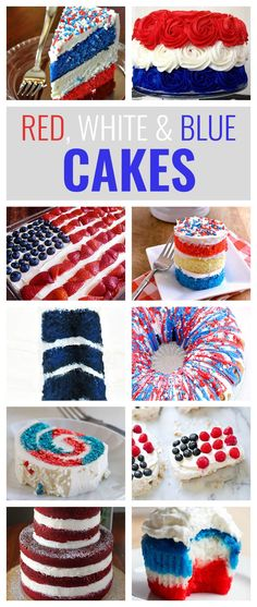 10 Red, White and Blue Cakes You'll Love to Make This Fourth of July Cake is great. Themed cake is even better. Summertime in America is all about patriotism with Independence Day. Celebrating the Fourth of July with a patriotic, red, white & blue cake Fourth Of July Cakes, 4th Of July Desserts, Fourth Of July Decor, 4th Of July Celebration, 4th Of July Party, July 4th, America Cake, Blue Desserts, Blue Cakes