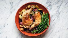 Kyllinglår og rotgrønnsaker
