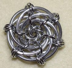 Love this design. Grandma's Rose Chainmaille Tutorial by Mels11 on Etsy, $6.00