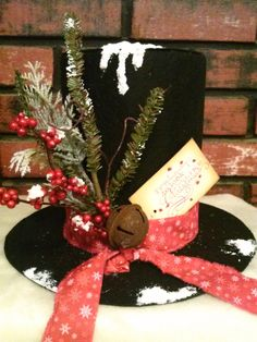 FREE SHIPPING Frosty Snowman Hat by oldelangfarms on Etsy, $30.00