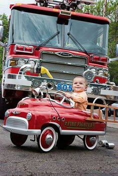 45 Ideas Fire Truck Pictures Photography Firemen For 2019 Firefighter Baby, Volunteer Firefighter, Firefighter Humor, Fire Dept, Fire Department, Cool Fire, Rescue Vehicles, Fire Equipment, Pedal Cars