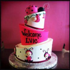 """My baby shower cake for my little girl, Evangeline """"Evie"""" ;)"""