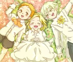 Check out kid King, Elaine and Helbram as kids! They're too kawaii~ Fanarts Anime, Manga Anime, Anime Art, Seven Deadly Sins Anime, 7 Deadly Sins, Nisekoi, Seven Deady Sins, 7 Sins, Happy Tree Friends