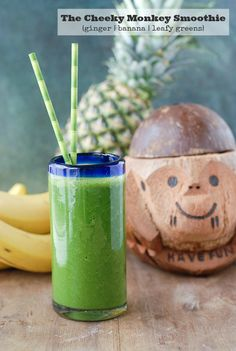 The Cheeky Monkey Smoothie {Ginger, Banana, Leafy Greens}