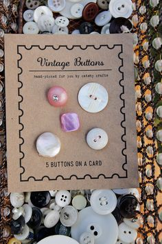 Your place to buy and sell all things handmade Button Cards, Button Button, Sewing Projects, Craft Projects, Hijab Pins, Little Games, How To Make Buttons, Craft Corner, Sewing A Button