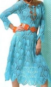 PINEAPPLE PATTERN DRESS