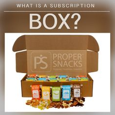 Proper Snacks Happier Healthier Greener Snacks Subscription Box Snacks For Work, Subscription Boxes, Biodegradable Products, Healthy Snacks, January, Lunch Box, Foods, Future, Big