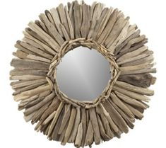 driftwood sunburst mirror from Crate & Barrel
