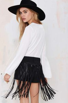 Blank NYC Whip It Fringe Shorts | Shop What's New at Nasty Gal